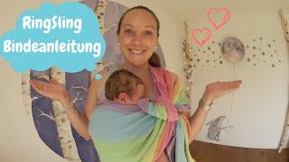 RingSling mit Neugeborenem  Bindeanleitung