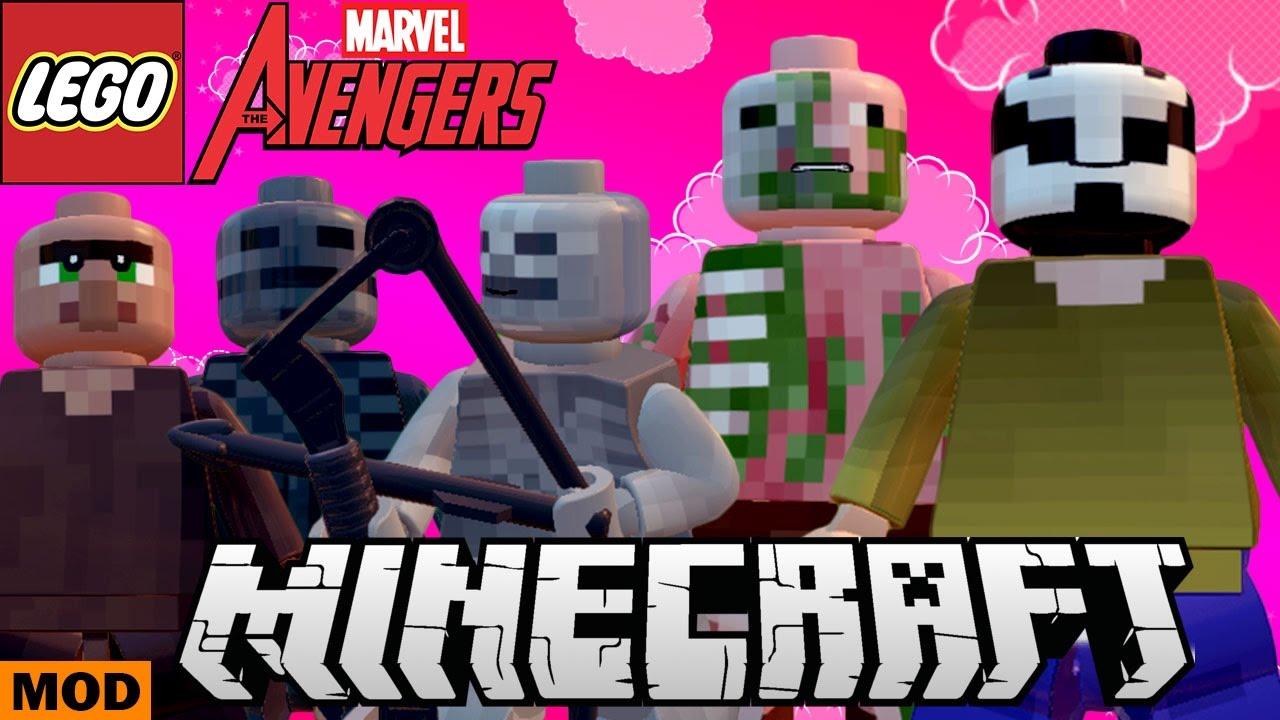 LEGO Marvel Avengers - Minecraft Lick, Skeleton, Zombie Pigman, Villager,  Wither Skeleton (MOD)