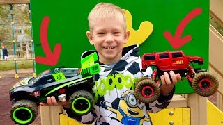 Kids Play with Toy Cars | Remote Control Monster Trucks for Kids