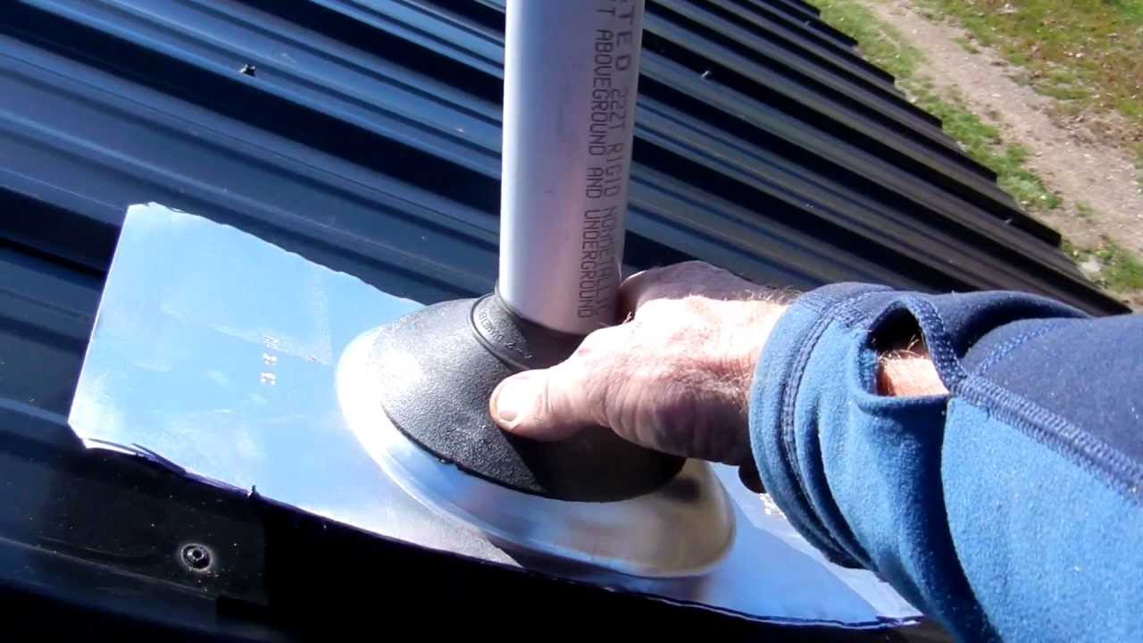 How To Cut A Hole In A Metal Roof For A Vent Stack Part