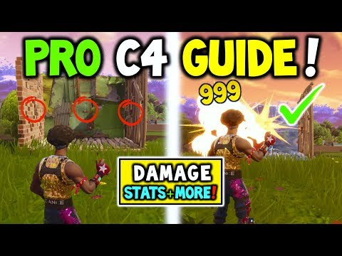 How to USE C4 / Remote Explosive In Fortnite Battle Royale (DAMAGE STATS + MORE! C4 GAMEPLAY!)