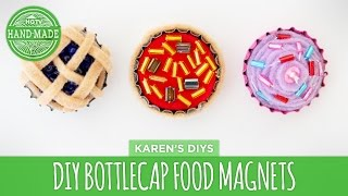 DIY Pie, Pizza & Cupcake Bottlecap Magnets - HGTV Handmade