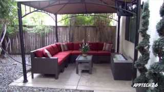 Backyard Before & After Remodel- Tv, Fire Pit, L-shaped Couch **must See** 06/21/2013