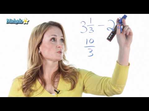 How to Add or Subtract Mixed Numbers