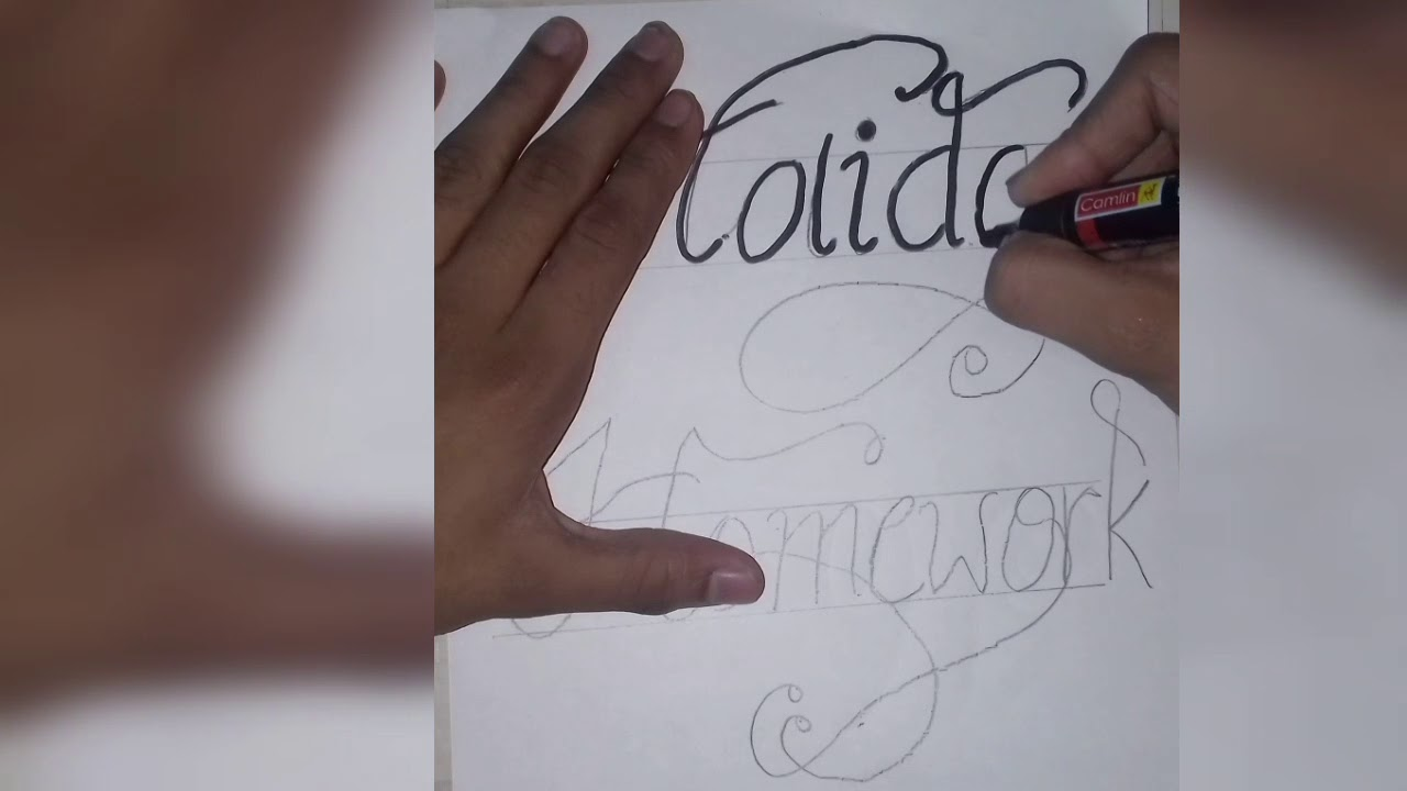 Writing Holiday Homework In Calligraphy Writing In Easy Way