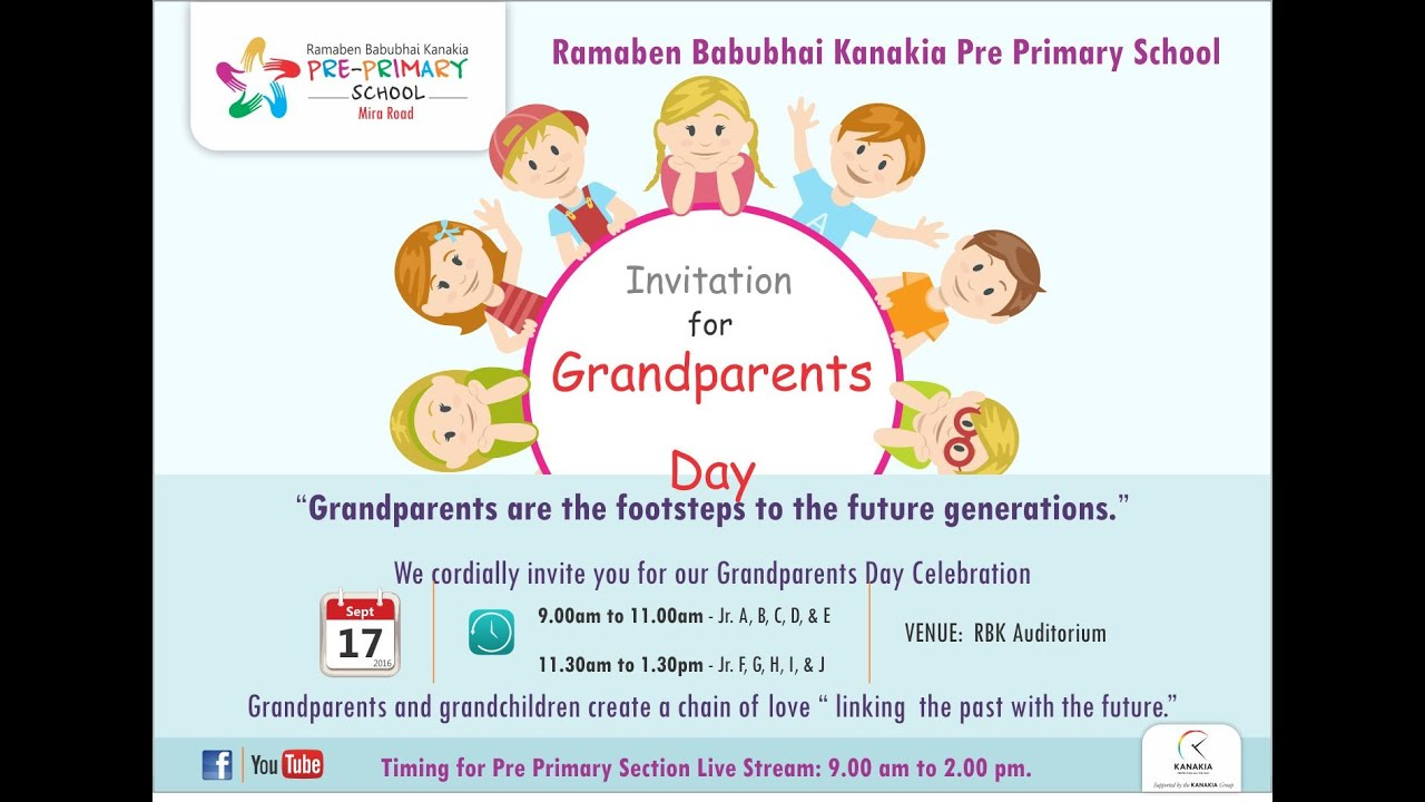 grandparents day celebration  jr a to e  youtube grandparents clip art black and white grandparents clipart border