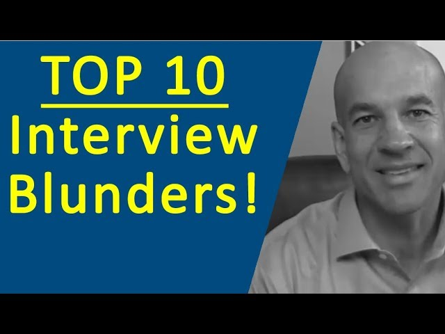 Top 10 Job Interview Mistakes - Training Module 1