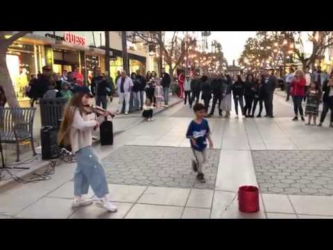 Faded - Alan Walker - Violin Street Performance by Karolina Protsenko