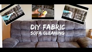 DIY Fabric sofa cleaning  How to clean fabric sofa at home