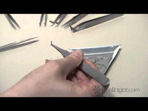 Watch and Jewelry Tools - 12 Piece Tweezer Set