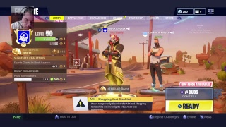 Fortnite live solo's, account level 344, PS4 Pro, Fps Dominator strike pack