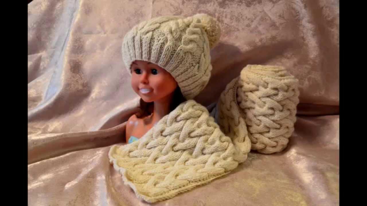 Купить вязаный снуд и шапка королева комплект шапка и шарф, шапка и шарф женский.