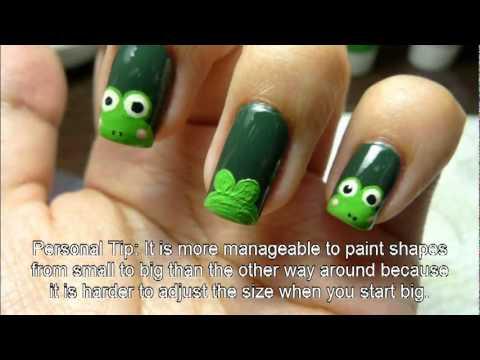 Keroppi or frog nail art tutorialflv youtube keroppi or frog nail art tutorialflv prinsesfo Images
