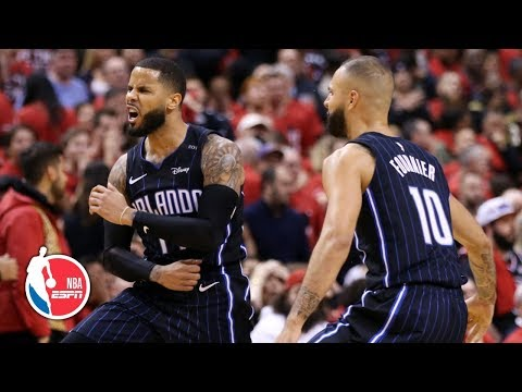 D.J. Augustin's game-winning 3 carries Magic to thriller vs. Raptors in Game 1 | NBA Highlights