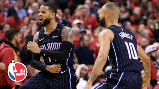 Download D.J. Augustin's game-winning 3 carries Magic to thriller vs. Raptors in Game 1 | NBA Highlights Mp3 and Videos
