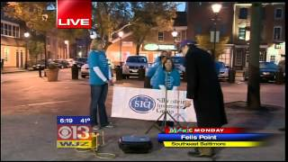 SIG doing Manic Monday on WJZ