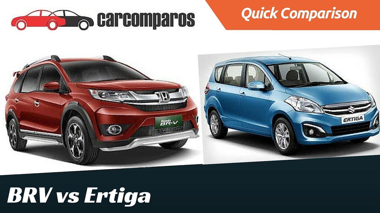Honda brv vs ertiga comparison review part 1 youtube for Honda brv philippines