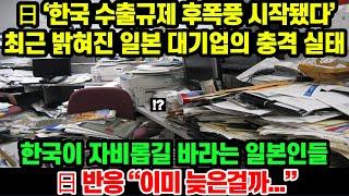 일본반응│日 '한국 수출규제 후폭풍 시작됐다' 최근 밝…