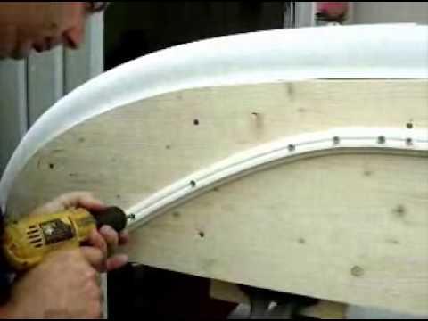 Tessilmare Radial Rub Rail Installation