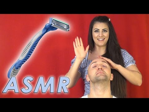 Woman Shaves Man | ASMR | Beard and Scalp Real Person Sounds