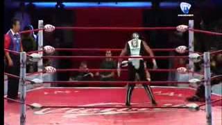 REY MISTERIO MIZTEZIZ VS HIJO DEL PERRO PENTAGON JR REY DE REYES 2015