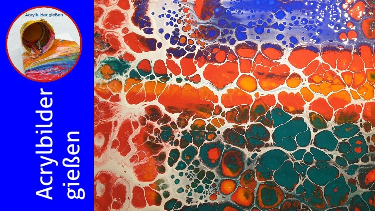 Fluid 20 FlipCup Fluid Painting mit Silikon und Zellen mit ...
