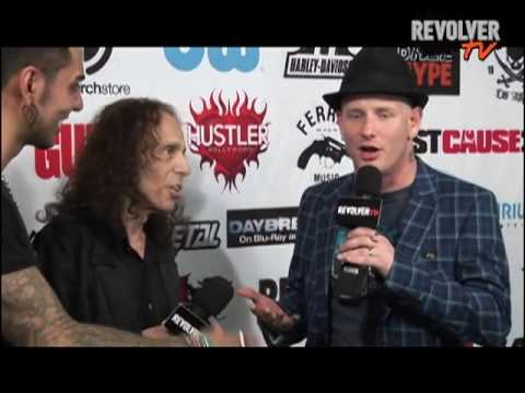 Corey Taylor + Ronnie James Dio backstage at Golden Gods