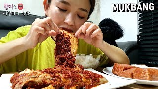 Real MUKBANG:) Rice in ice water?🤯 OMG 😱 Silvi Kimchi's spicy taste is amazing!!