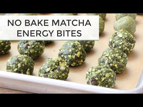 No Bake Matcha Energy Bites | 2 Delicious Ways