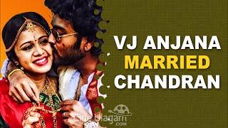 VJ Anjana Married Chandran   Wedding Photos