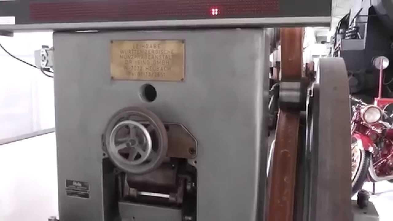 Coin minting machine - Münzprägemaschine