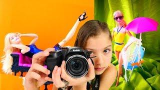 Видео для девочек - Фотосессия для Барби от Полен