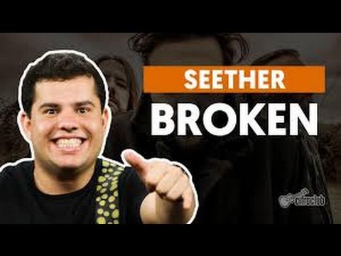 Broken - Seether (feat. Amy Lee) (aula de guitarra)