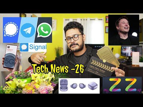 Tech ನ್ಯೂಸ್: Signal App No 1,  Elon Musk, SD480 5G, Oppo Reno 5 Pro, Lava Z-series, OnePlus Band