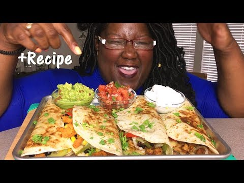 VEGAN QUESADILLAS vs CHICKEN QUESADILLAS RECIPE + 먹방 MUKBANG
