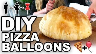 🍕DIY Pizza Balloons 🎈  -  Man Vs Corinne Vs Pin