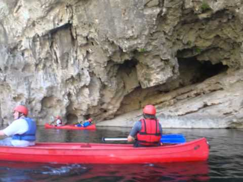 ARDECHE GORGE 2-day canoe trip.