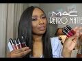 Mac Retro Matte Liquid Lipstick Swatches mp3