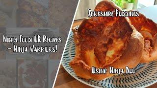 Ninja Foodi UK Recipes  Dual Yorkshire puddings