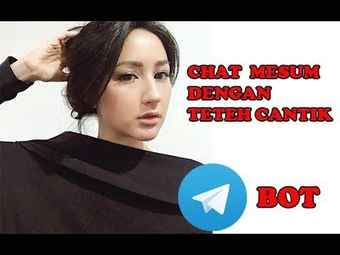 Chat Mesum dan Add Teteh Cantik Bot di Grub Telegram