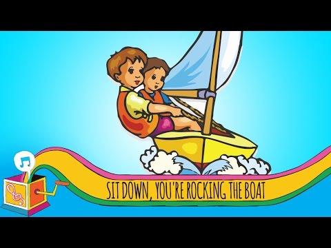 Sit Down, You're Rocking the Boat | Nursery Rhyme | Karaoke