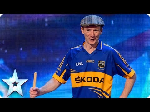 Oliver Moroney's Irish dancing (with a broom) | Britain's Got Talent 2014