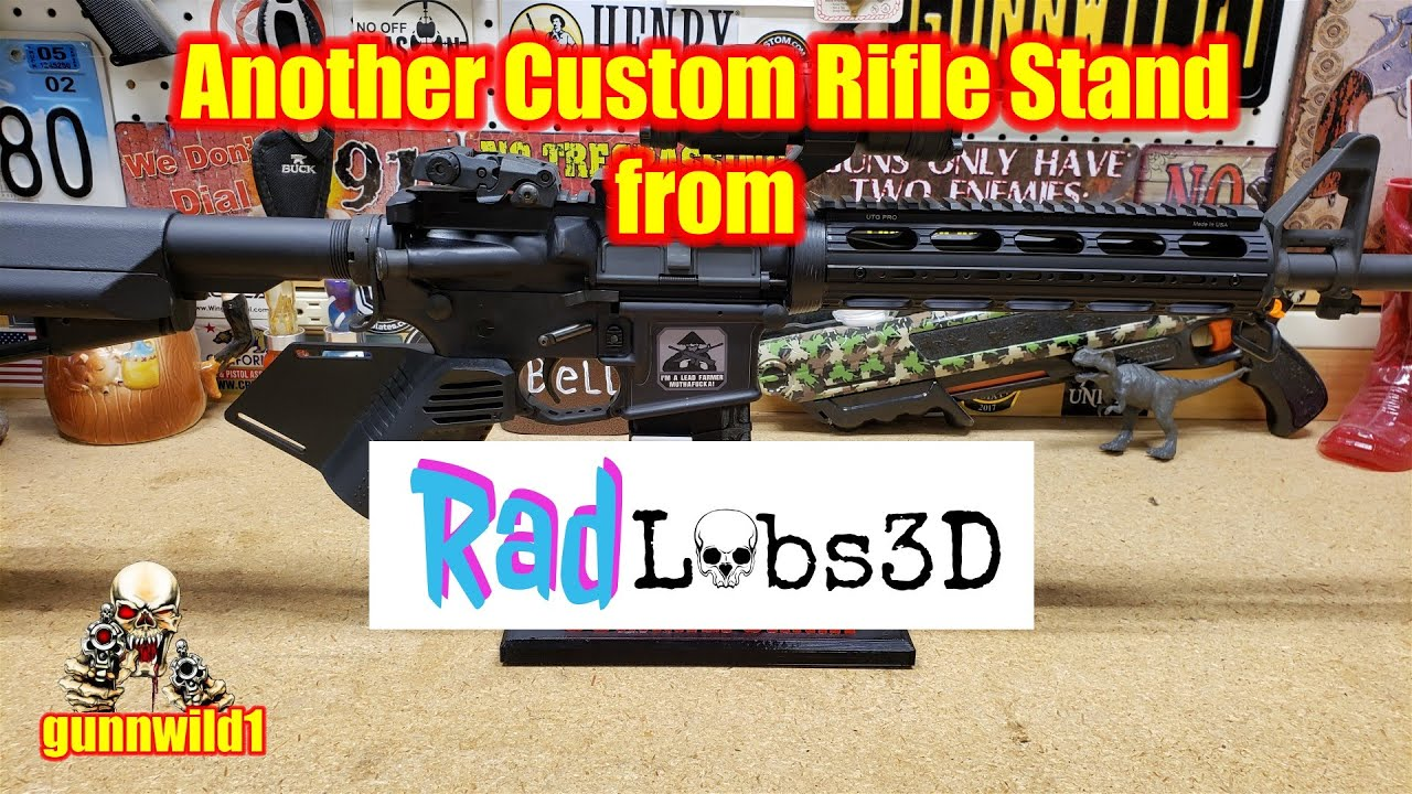 Another custom rifle stand from Rad Labs 3D
