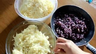 Начинка для осетинских пирогов из капусты и сыра ( кабускаджын)