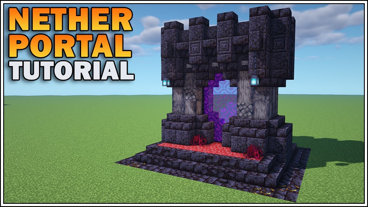 How To Build A Nether Portal In Minecraft 1 16 Nether Update Youtube