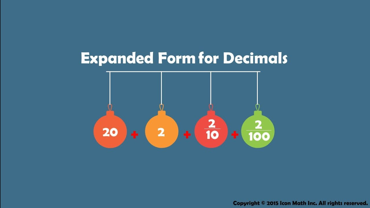 Expanded form for decimals youtube falaconquin