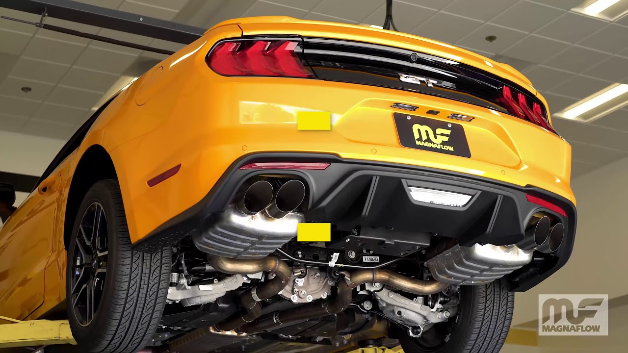 2018 ford mustang gt performance exhaust system kit magnaflow cat back 19368