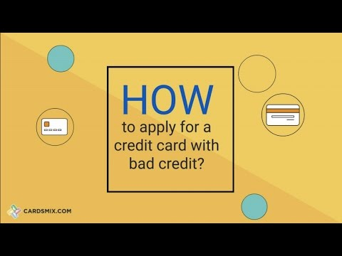 How To Get Credit Card For Bad Credit