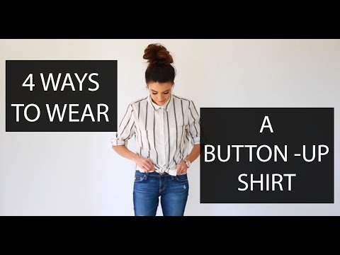 How to tie a knot in your button shirt