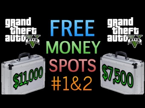 "GTA 5 : Hidden Briefcase Packages Locations Guide #1-2  ""FREE MONEY"" Under Water Cash / Money"
